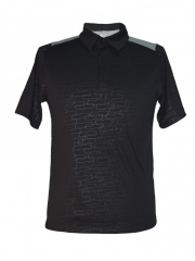 Black LT Grey Polo T-shirt black light grey s