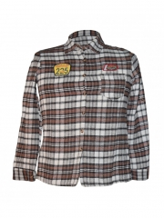 Brown Men's Checked Long Sleeved Shirt brown checked s