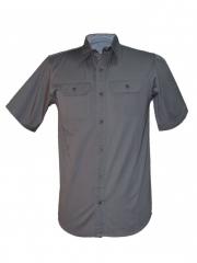 Grey Men's Short Sleeved Shirt grey s