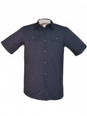 Navy Blue Men's Short Sleeved Shirt navy blue s