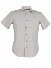 Silver Birch Short Sleeve Men's Slim Fit Shirt silver birch s