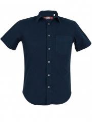Navy Short Sleeve Men's Slim Fit Shirt navy blue xl