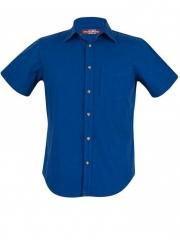 Royal Blue Short Sleeve Men's Slim Fit Shirt royal blue s
