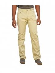 Beige Straight Fit Twill Pants beige 30