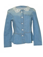 Women Classic Denim Jacket light wash m