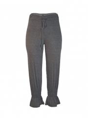 Grey Ladies Solid Pant grey s