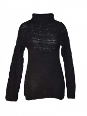 Black Knitted Sweater Black s