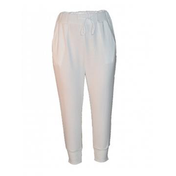 White Womens Sweat Pants white l