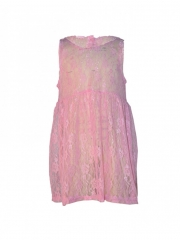 Pink Girls Lace Dress pink l