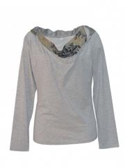 Womens Long Sleeved Top grey s