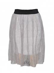 Biege Lace Midi Skirt beige m
