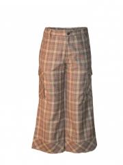 Checked Capri Shorts checked s