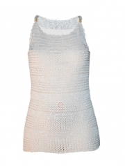 White Knitted Tank Top white s