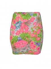 Floral Print Ladies Mini Skirt floral m