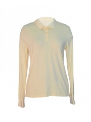 Yellow Long Sleeved Polo Top yellow s