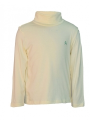 Yellow Turtle Neck Solid Kids Top yellow 12m
