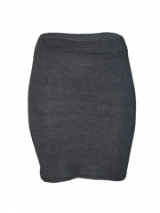 Grey Solid Mini Skirt grey m