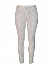 White Stripped Ladies Skinny Pants white stripped s