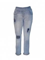 Light Blue Womens Pull on Pant light blue 8