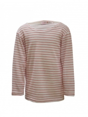 White and Pink Long Sleeved Stripped Kids T Shirt white and pink 11