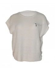 Ladies Round Neck Wooven Top normal free size