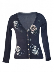 V-neck Ladies Sweater normal free size
