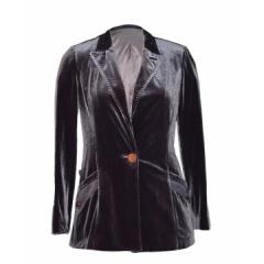 Ladies V Neck Tailored Sleeved Grey Blazer grey m