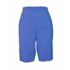 Blue -Ladies Woven Bermuda Short blue 6