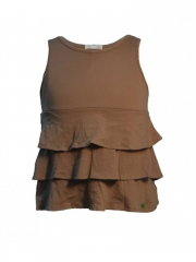 Brown kids sleeveless dress with bolero brown 12m