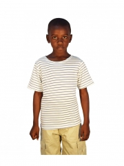 Short Sleeved Stripped Kids Top normal free size