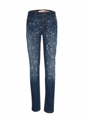 Blue Womens Denim Pants blue 1