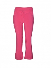 Straight Leg Drawstring kinga Pants pink s