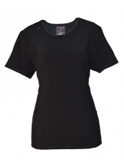 Medical Uniform Round Neck Top black s