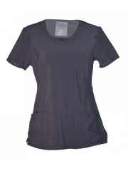 Pewter Grey Medical Uniform Round Neck Top Pewter Grey s