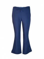 Navy Blue Work Wear Flare Leg Pants navy blue s
