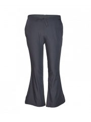 Pewter Work Wear Flare Leg Pants pewter grey s