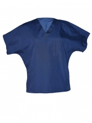 Unisex V Neck Top Workwear navy blue s