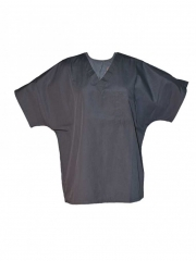 Unisex V Neck Top Work Wear grey s