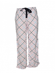 Pink Checked Women Pajama pink checked s