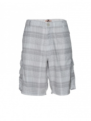 White Checked Mens Short white 30