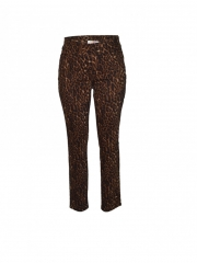 Brown Leopard Print Womens Pant brown 6