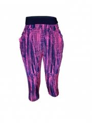 Pink/Navy Ladies Capri Pants pink/navy m