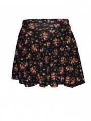 Multicolored Womens Skater Skirt multicoloured free size