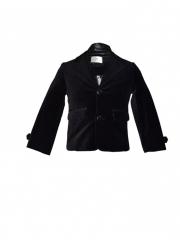 Black Collared Kids Coat black s