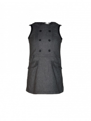 Charcoal Grey Kids Dress charcoal s