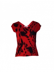 Red V Neck Womens Top red s