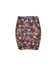 Multicolored Womens Mini Skirt multicoloured s
