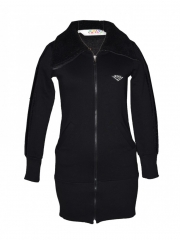 Black Hooded womens jacket black free size