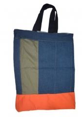 Medium Grocery/Shopping Bag dark blue 16.5 by 14.5