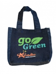 GO Green Small Lunch Box Bag dark blue 9.2 by 8.2